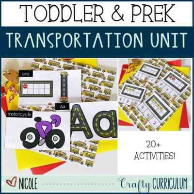 Toddler & Preschool Transportation Themed Activities