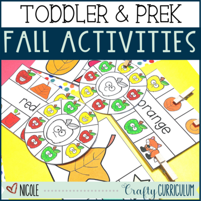 Fall Themed Toddler and Preschool Activities