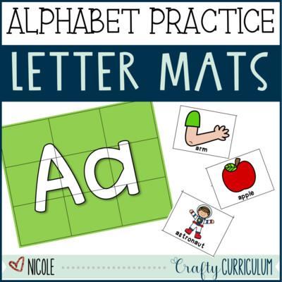Alphabet Cards, Beginning Sounds Hands-on Activity