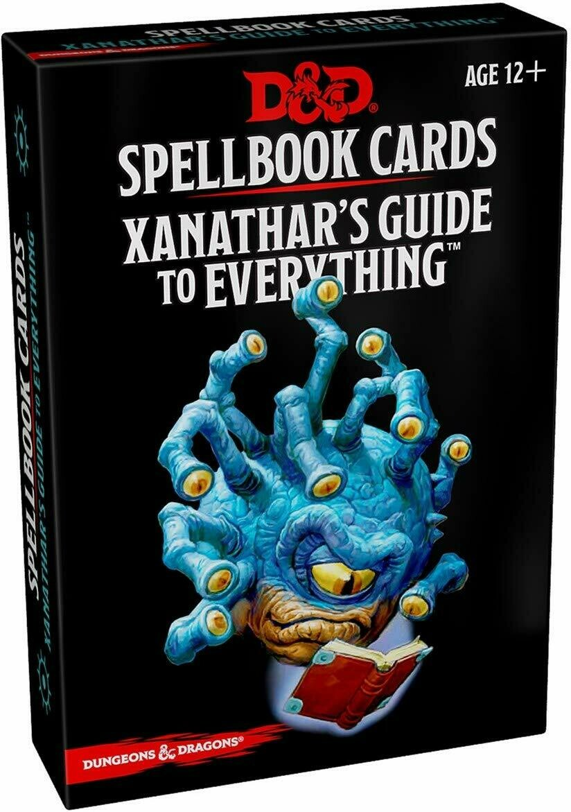 D&D Spell Cards: Xanthar's Guide