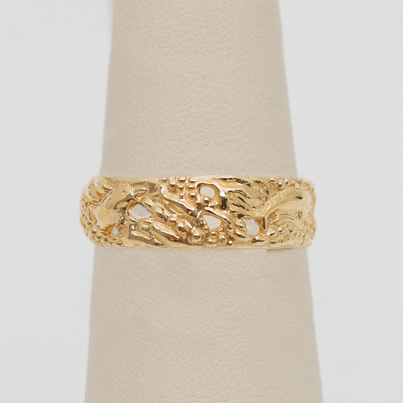 Gold Band with Dolphins