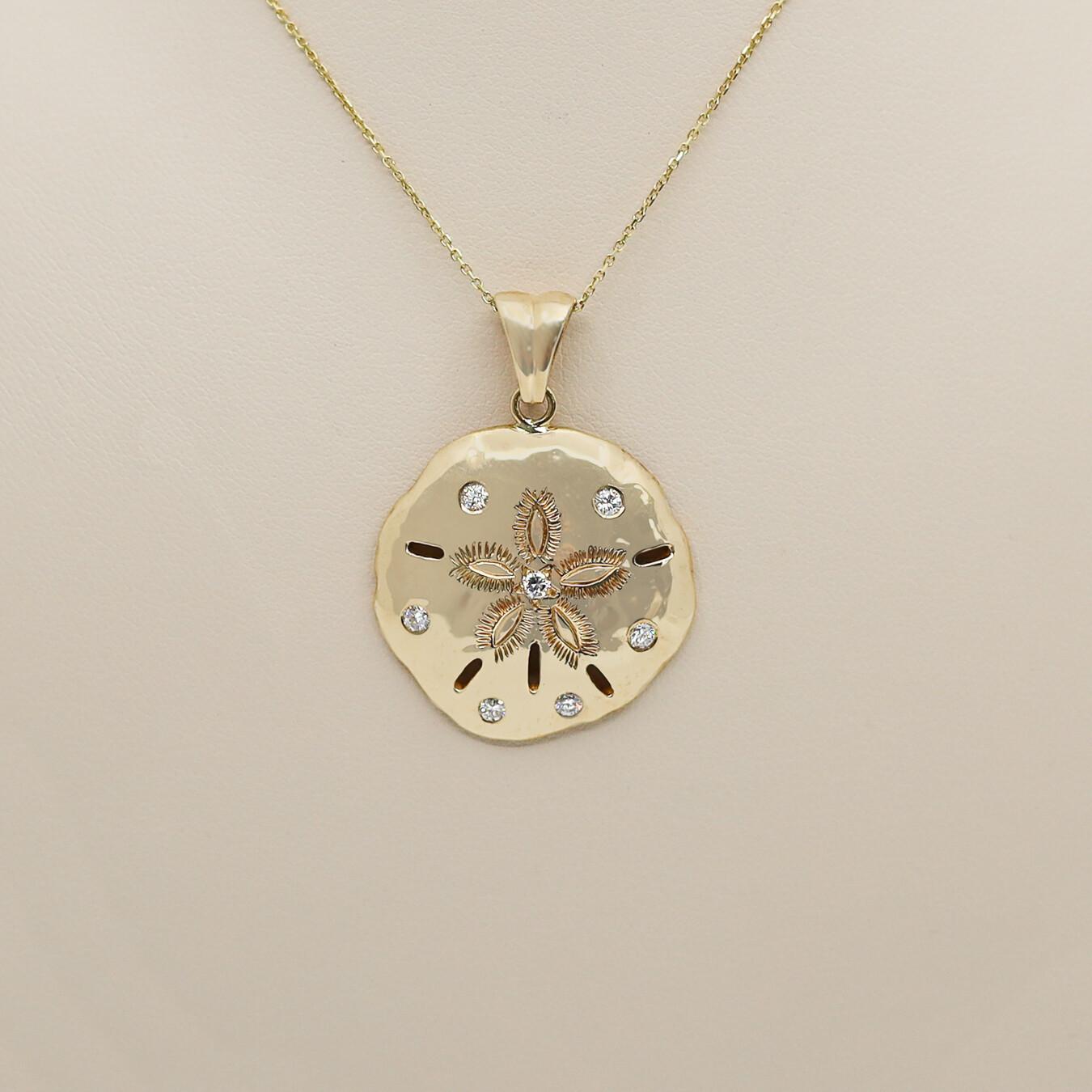 Sand Dollar Pendant with Diamonds