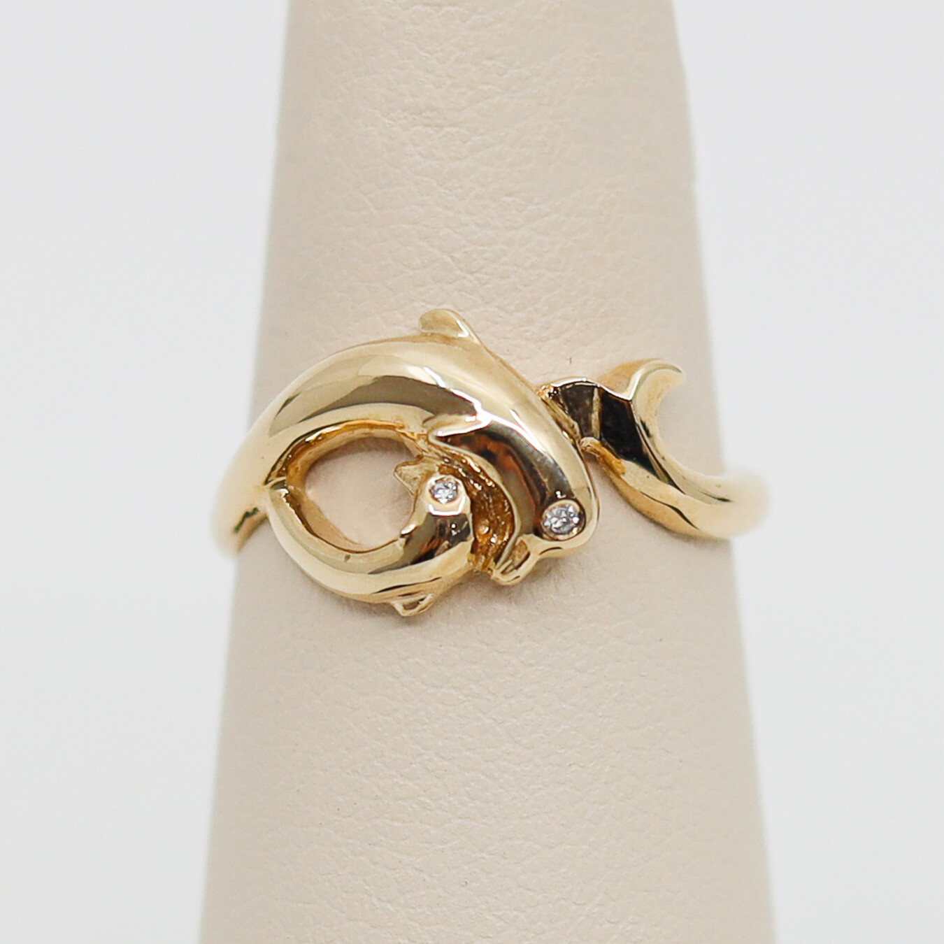 Dancing Dolphin Ring with Diamonds