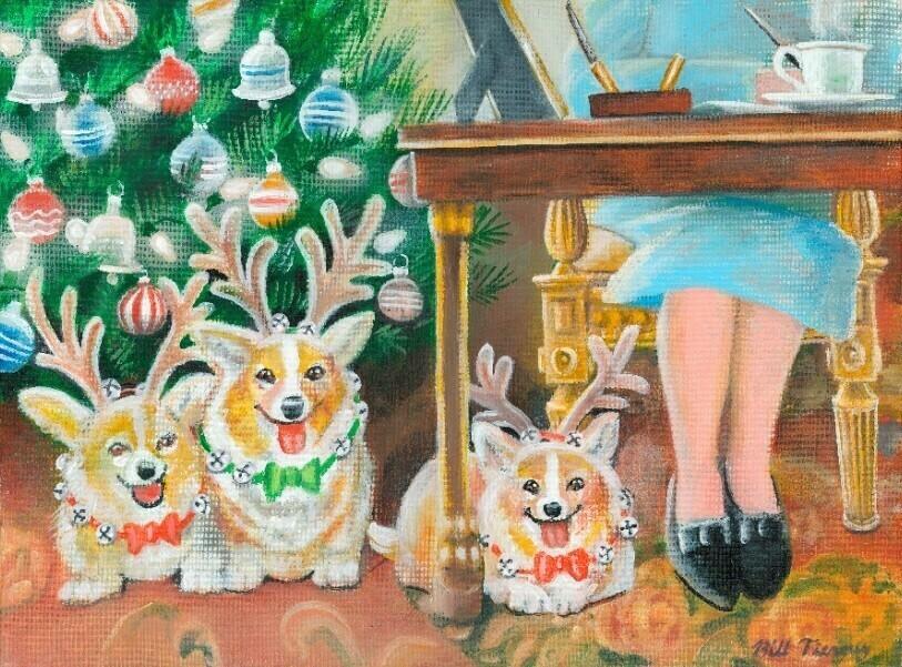 A Very Corgis Christmas (8 pack)