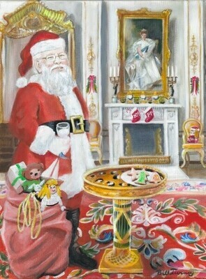 A White Drawing Room Christmas Visit (8 pack)