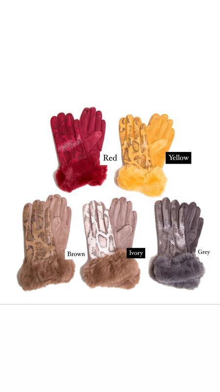 Snakeskin Faux Leather Fur