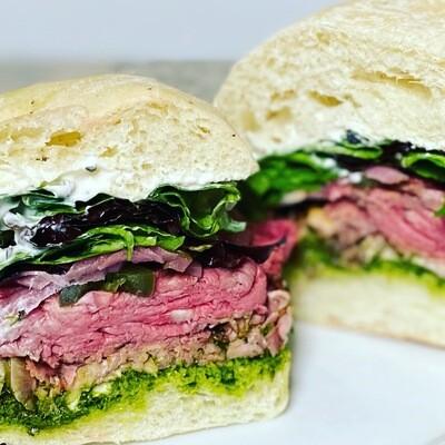 Grab and Go 1/2 Roast Beef Sandwich
