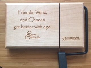 Cutting Board - Friends, Cheese, & Wine Get Better With Age