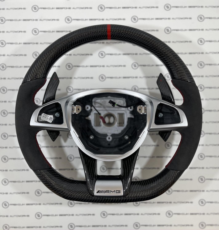 Custom Mercedes Benz W205 AMG Steering Wheel