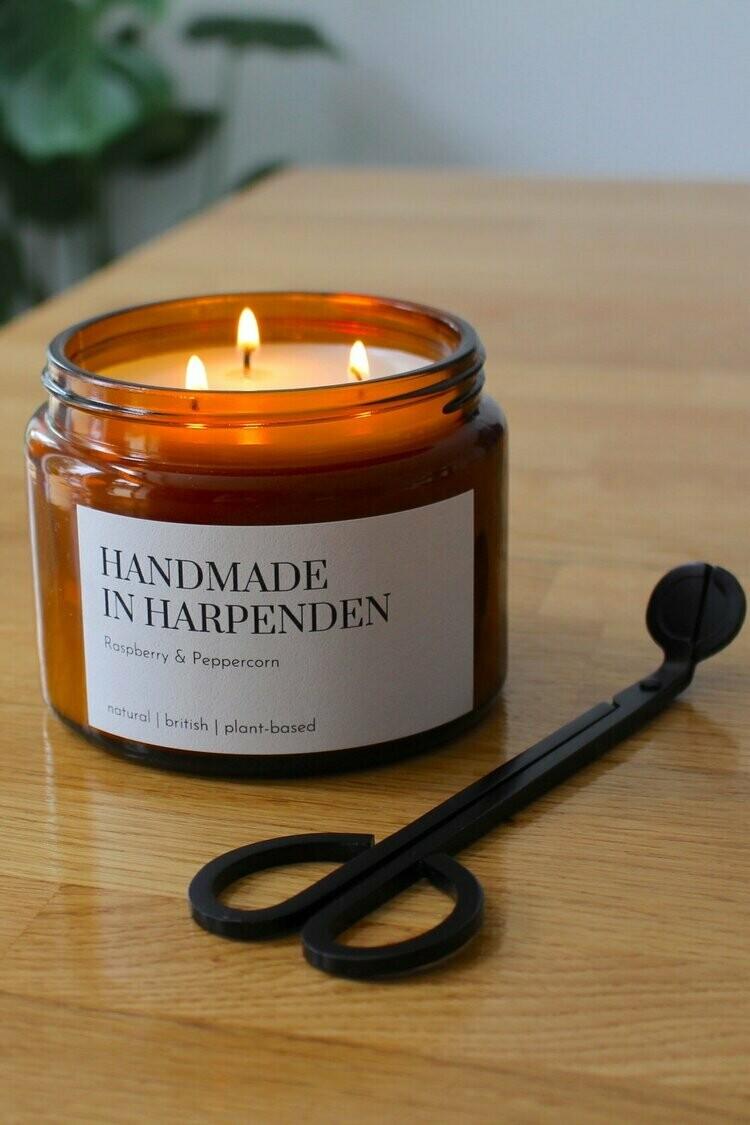 Raspberry and Peppercorn Three Wick Candle 500ml