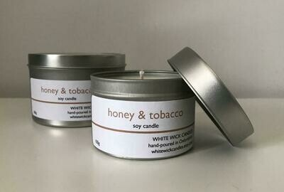 Honey & Tobacco Soy Candle - 100g
