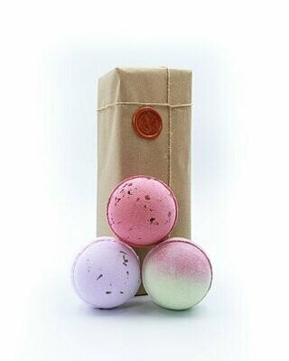 Lavender, Rhubarb & Rose, Cherry Apple Bath Bomb Gift Set