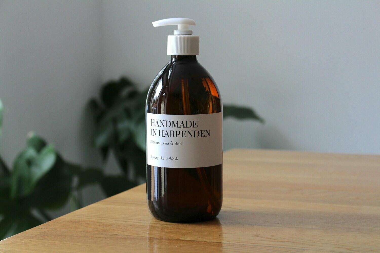 Sicilian Lime and Basil Fine Liquid Hand Soap 500ml