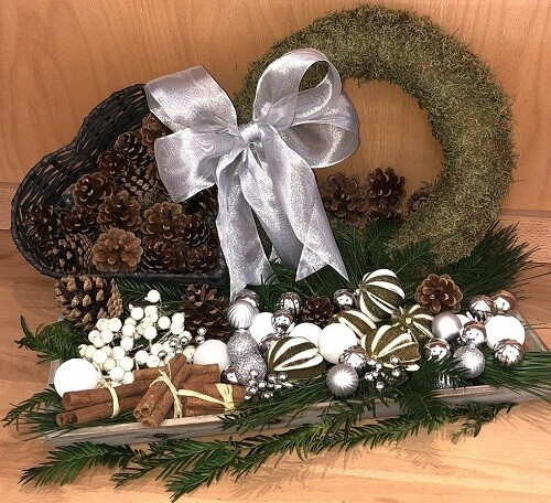 DIY Wreath Kit - White & Silver