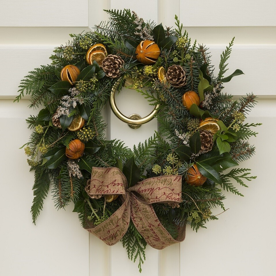 DIY Christmas Wreath Kit - Natural & Fruity (45cm)