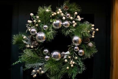 DIY Christmas Wreath Kit - White & Silver