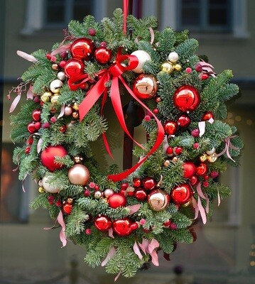 DIY Christmas Wreath Kit - Red & Gold