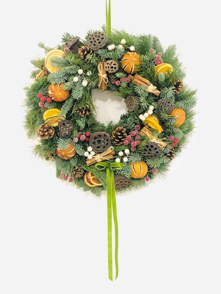 Natural & Fruity Christmas Door Wreath