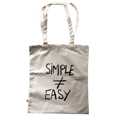 SIMPLE ≠ EASY — Tote bag