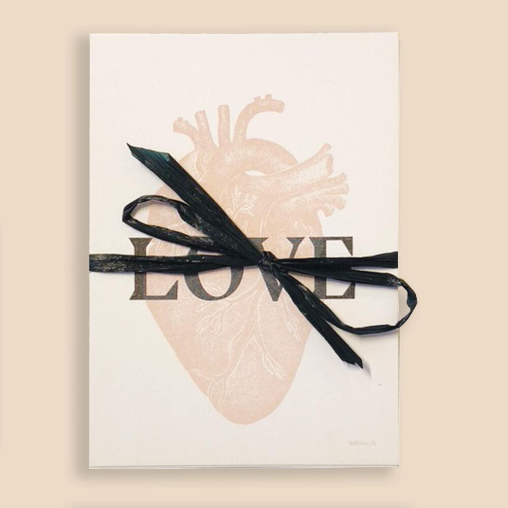Cœur — Lot de 8 cartes postales