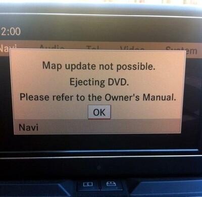 Reparatur Mercedes COMAND APS NTG 4 Navigation lässt sich nicht aktivieren