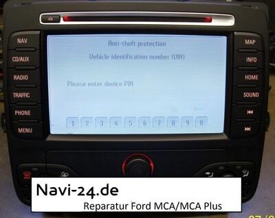 Reparatur Blaupunkt FORD SMAX HSRNS TravelPilot NX MCA- Display flimmert weiß