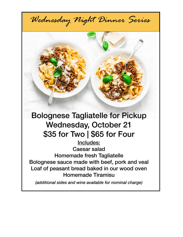 Bolognese Night Dinner Special