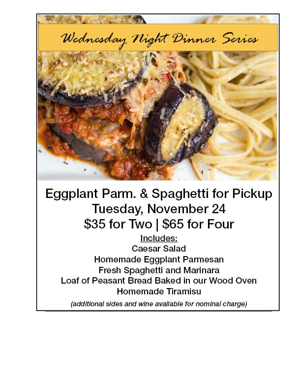 Eggplant Parm. & Spaghetti
