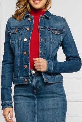 Blouson en jean court stretch - Tommy Jeans.