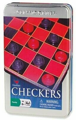 Checkers Set in a Tin