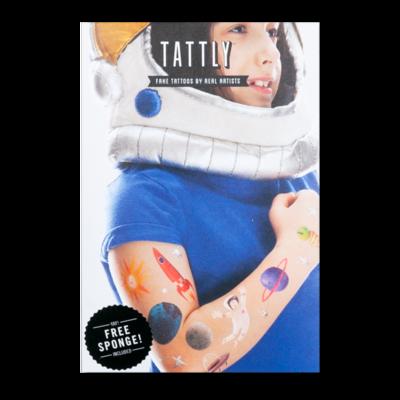 Space Explorer Set - 8 tattoos + sponge