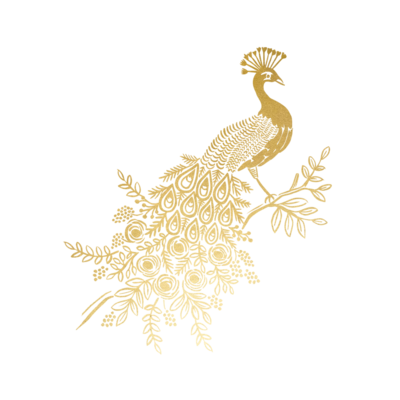 Gold Foil Peacock - 2 Pack