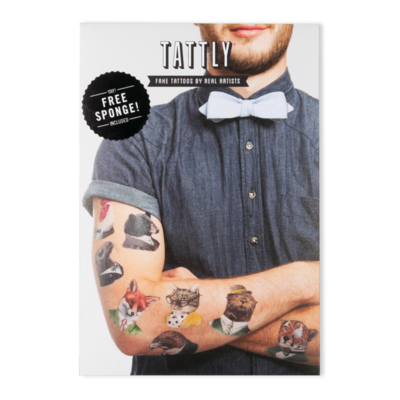 Animal Society Set - 8 Tattoos + sponge