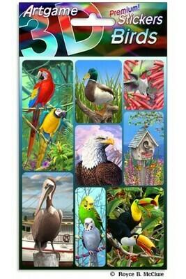 3-D Bird Stickers