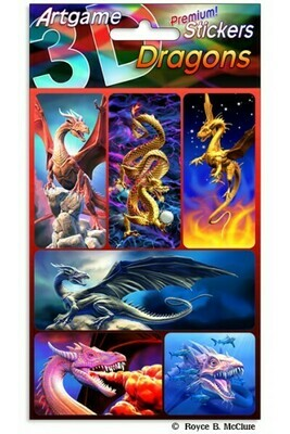 3-D Dragon Stickers
