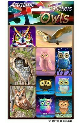 3-D Owl Stickers