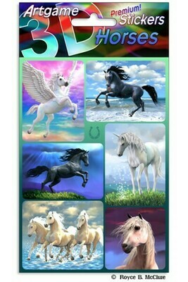 3-D Horse Stickers