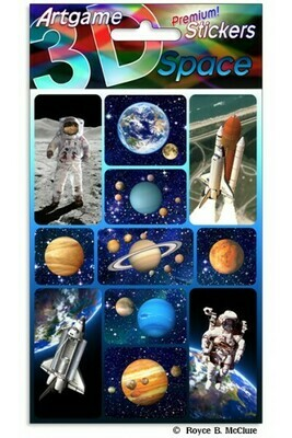 3-D Space Stickers