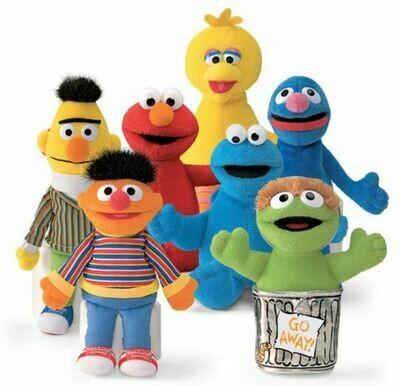 Sesame Street Character Beanbag Toy