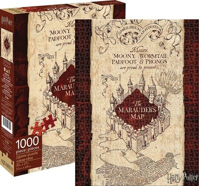 Harry Potter Marauder's Map 1000 Piece Jigsaw Puzzle