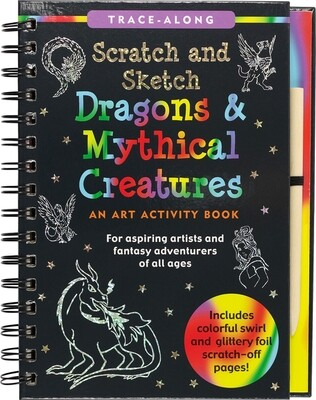 Scratch & Sketch Dragons & Mythical Creatures (Trace Along)