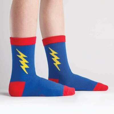 Super Hero Junior Crew Socks (Ages 7-10)