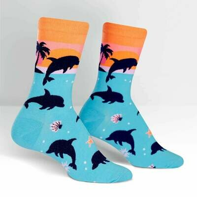 Dancing Dolphins Junior Crew Socks (Ages 7-10)