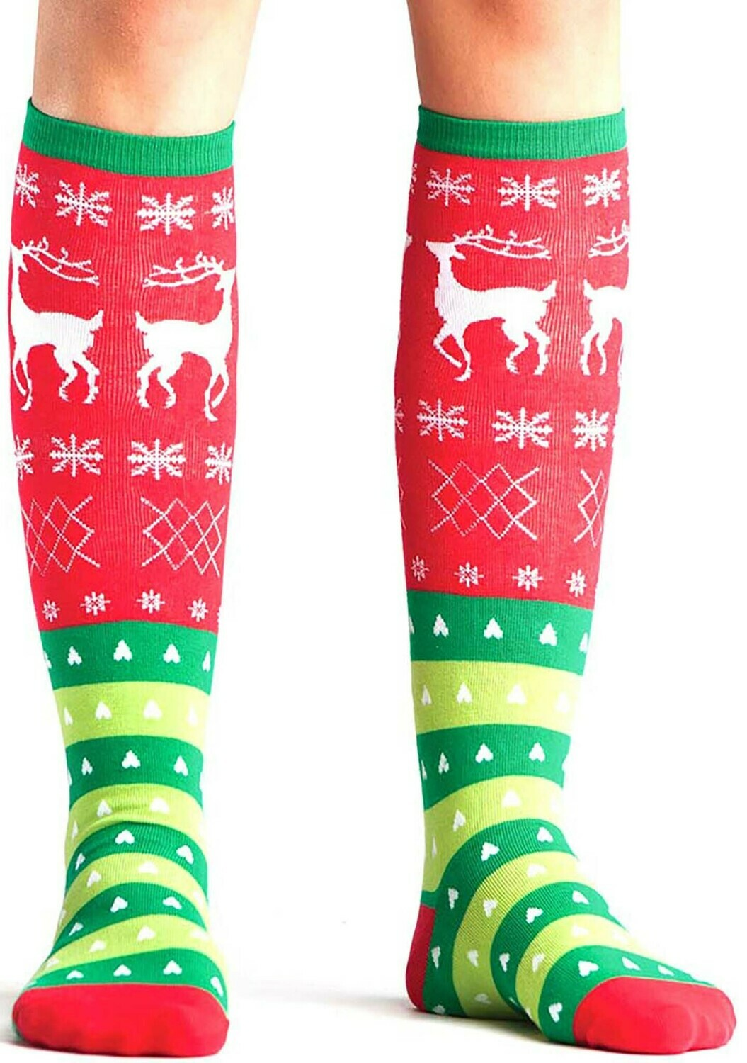 Tacky Holiday Sweater Knee High Socks
