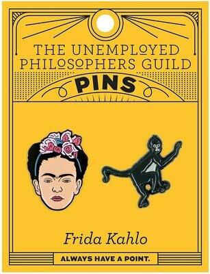 Frida and Monkey Enamel Pin Set