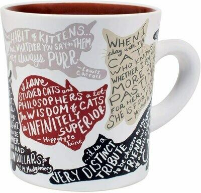 Literary Cat Mug - Famous Cat Quotes