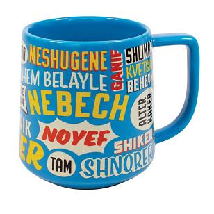 Yiddish Insults Mug - Nudnik to Tipish and More