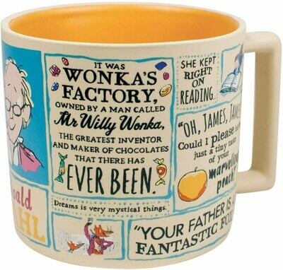 Roald Dahl Coffee Mug - Famous Characters and Quotes