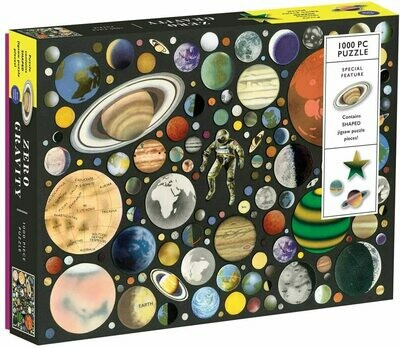 Zero Gravity 1000 Piece Puzzle (With Shaped Pieces)