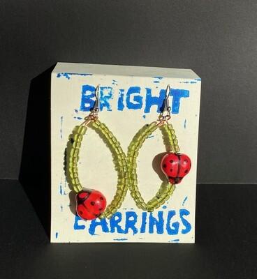 Ladybug Earrings (Bright Earrings)